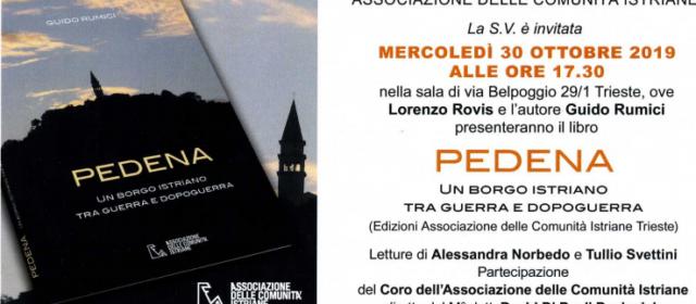 """Presentazione del libro """"PEDENA un borgo istriano tra guerra e dopoguerra"""""""