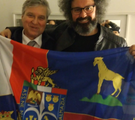 """Il Presidente Federesuli alla prima a Roma dello spettacolo """"Esodo"""" di Simone Cristicchi"""