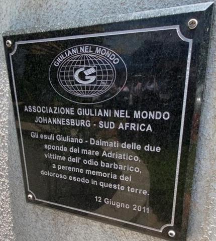 """La Commemorazione per il """"Giorno del Ricordo"""" a Johannesburg"""