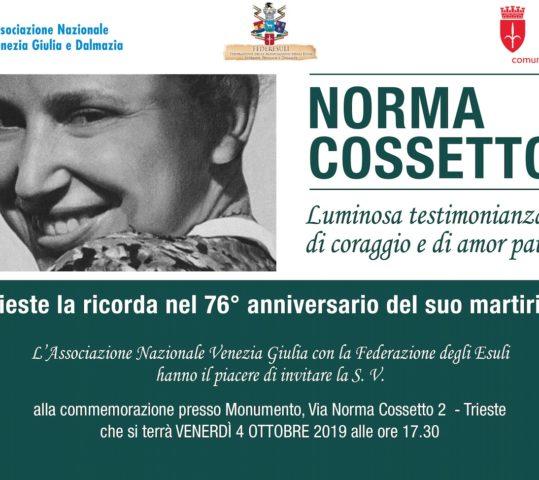 Commemorazione di Norma Cossetto a Trieste