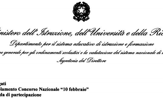 """Concorso Nazionale """"10 Febbraio"""""""
