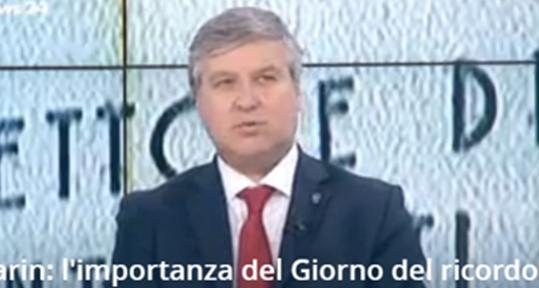 """Il Dott. Antonio Ballarin intervistato da RaiNews sul """"Giorno del Ricordo"""""""