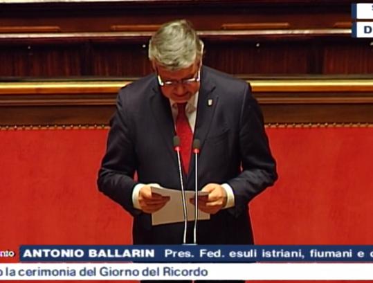 Intervento del Presidente FederEsuli al Senato nel Giorno del Ricordo 2020
